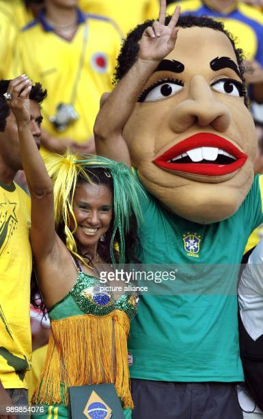 Brazilian supporters prior the group F preliminary match of 2006 FIFA World Cup Brazil vs Croatia at Olympic stadium in Berlin Germany Tuesday 13...