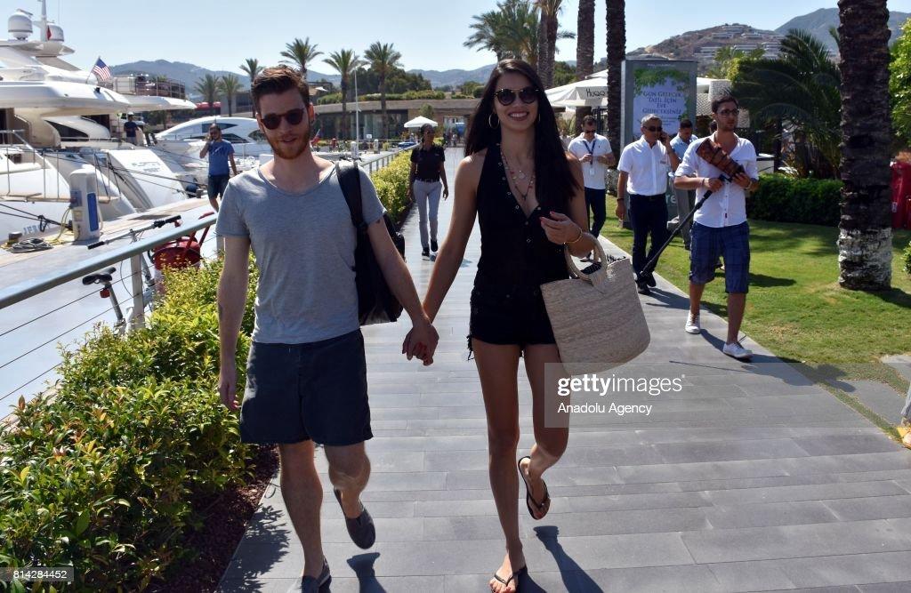 Adriana Lima and Metin Hara seen together in Turkish holiday resort : News Photo
