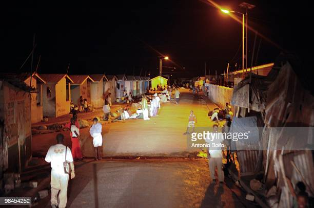 Brazilian UN soldiers part of Strong Point 16 prepare for a night patrol January 21 2010 in Cite Soleil Haiti Cite Soleil is a slum that is plagued...