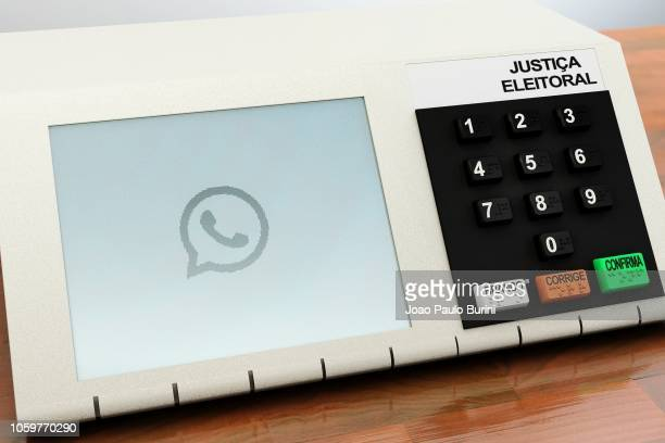 brazilian voting machine (urna eletronica) for 2018 president elections - sorocaba stock pictures, royalty-free photos & images