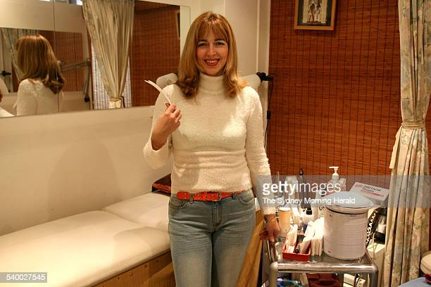 Brazilian waxer Olga Marom at her beauty studio 7 July 2006 SMH Picture by EDWINA PICKLES
