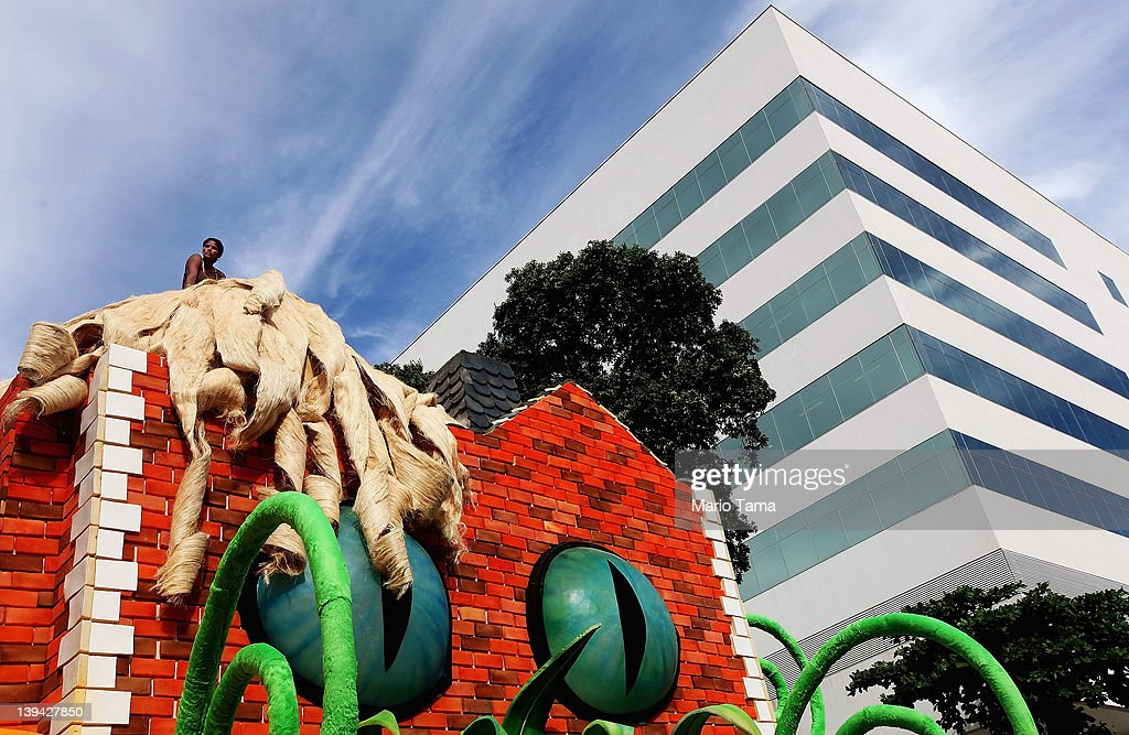 A Brazilian woman sits on a float during Carnival celebrations on February 20, 2012 in Rio de Janeiro, Brazil. Carnival is the grandest holiday in Brazil, annually drawing millions in raucous celebrations culminating on Fat Tuesday before the start of the Catholic season of Lent which begins on Ash Wednesday. Police strikes in Salvador and Rio de Janeiro in recent weeks threatened Carnival and raised questions about the country's preparedness to host the upcoming 2014 World Cup and 2016 Summer Olympics.