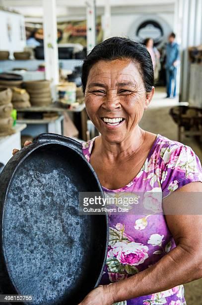 Brazilian woman with traditional pan