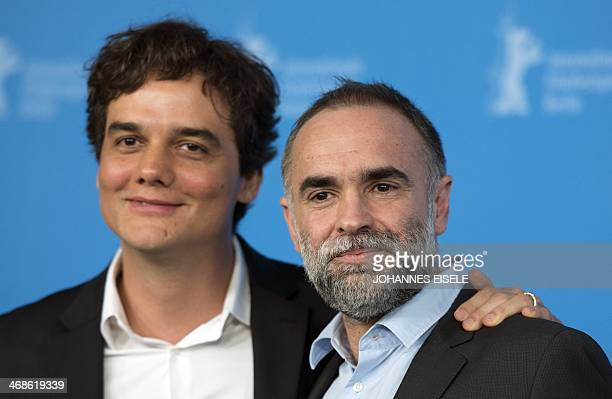 BrazilianAlgerian director Karim Ainouz and Brazilian actor Wagner Moura attend a photocall of the 'Praia do futuro' by Karim Ainouz in competition...