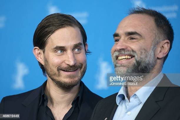 BrazilianAlgerian director Karim Ainouz and German actor Clemens Schick attend a photocall of the 'Praia do futuro' by Karim Ainouz in competition at...
