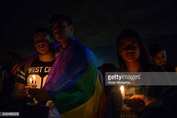 Brazilians linked to LGBT movements are protesting in solidarity with the victims of the terrorist attack that killed 49 people in gay nightclub in...