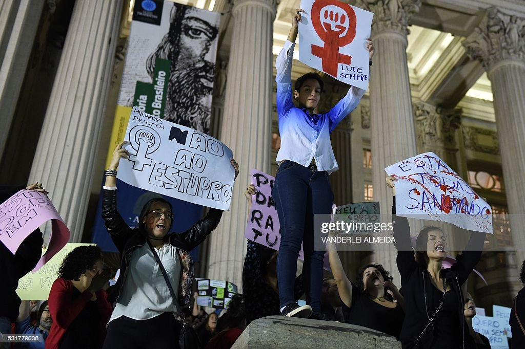 BRAZIL-RIO-VIOLENCE-GANG-RAPE-PROTEST : News Photo