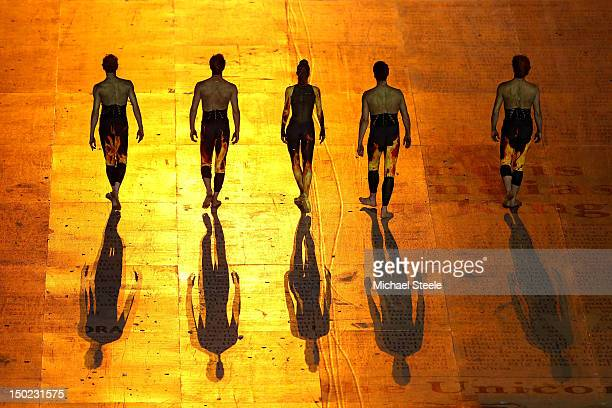 Brazillian artists perform during the Closing Ceremony on Day 16 of the London 2012 Olympic Games at Olympic Stadium on August 12 2012 in London...