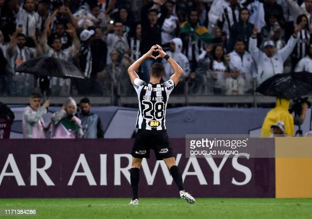 Brazil's Atletico Mineiro Franco Di Santo celebrates his goal against Argentina's Colon during a 2019 Copa Sudamericana football match at the...
