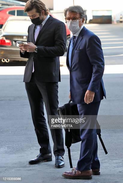 Brazil's businessman Paulo Marinho leaves the Federal Police Headquarters in Rio de Janeiro, Brazil on May 26, 2020. - The Brazilian Federal Police...