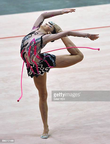 Brazil's Eliane Rosa Sampaio competes in the rythmic gymnastics during the World Games in Kaohsiung on July 17 2009 The World Games draws more than...