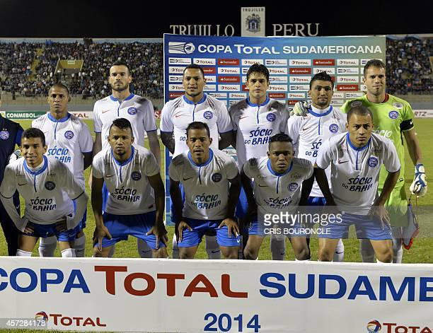 Brazils Esporte Clube Bahia players pose for a picture prior to their Copa Sudamericana soccer game against Perus Cesar Vallejo played at the...
