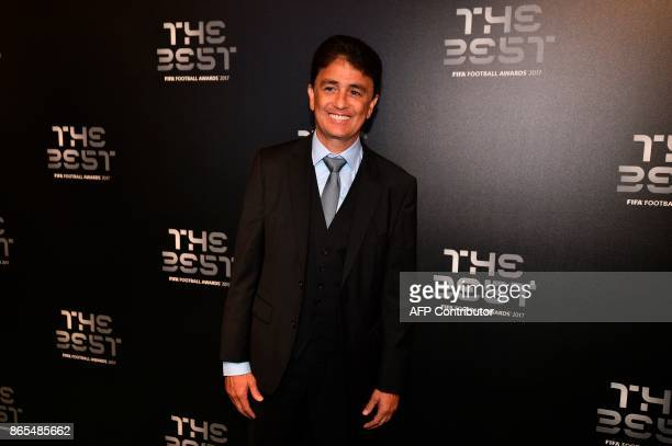 Brazil's former player Bebeto poses for a photograph as he arrives for The Best FIFA Football Awards ceremony on October 23 2017 in London / AFP...