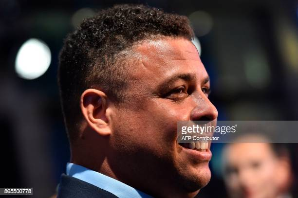 Brazil's former player Ronaldo Luis Nazario de Lima arrives for The Best FIFA Football Awards ceremony on October 23 2017 in London / AFP PHOTO /...
