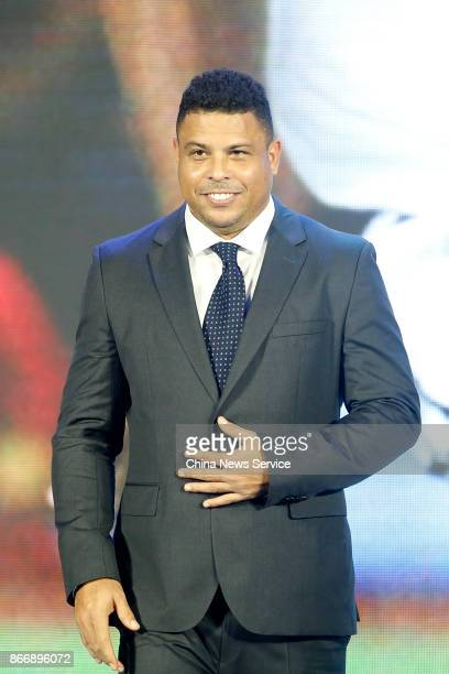 Brazil's former player Ronaldo Luis Nazario de Lima attends Real Madrid China Summit at Kerry Hotel on October 26 2017 in Beijing China