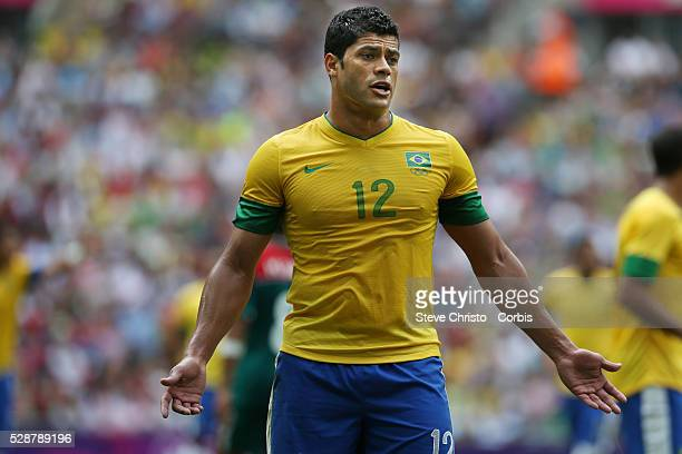 Brazil's Givanildo Vieira de Souza or Hulk in action against Mexico during the gold medal match at Wembley Stadium London UK Saturday 11th August 2012