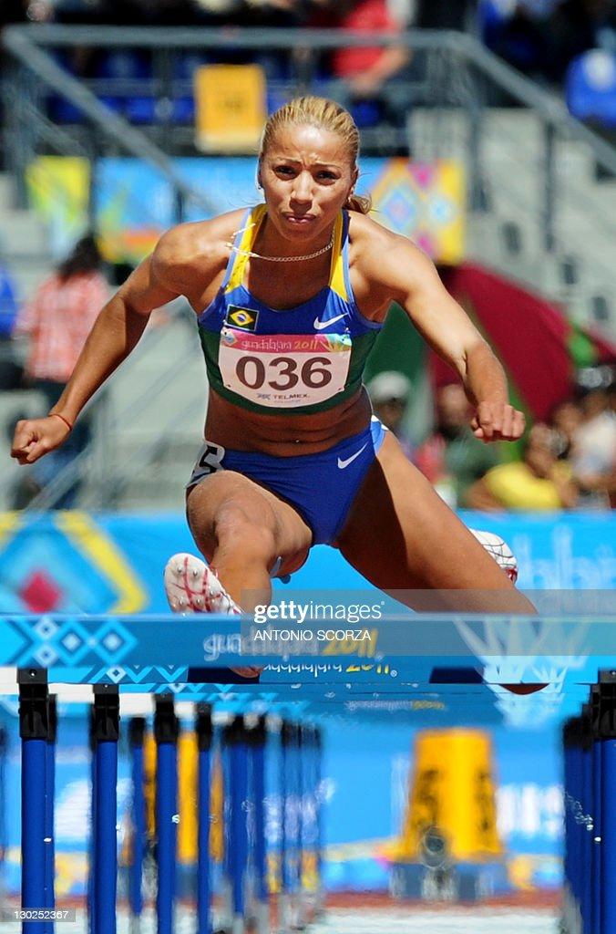 Brazils Lucimara da Silva races to win the Womens 110m