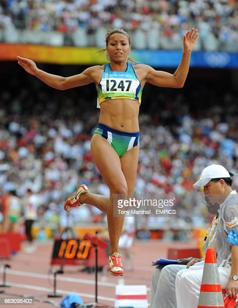Brazil's Lucimara Silva during the Women's Heptathlon Long Jump at the 2008 Olympic Games in Beijing