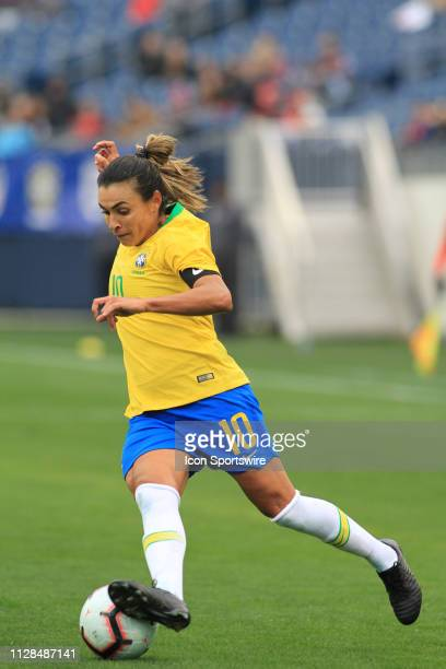 Brazil's Marta during a SheBelieves Cup match between Brazil and Japan March 2 at Nissan Stadium in Nashville Tennessee