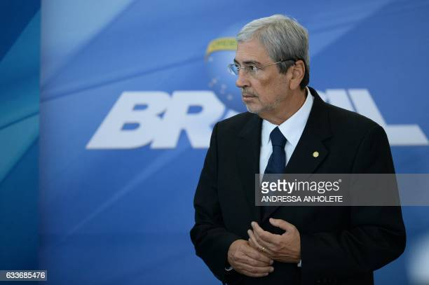 Brazil's new Minister of Government Secretariat Antonio Imbassahy is pictured during the inauguration ceremony of the ministers of Justice and Public...