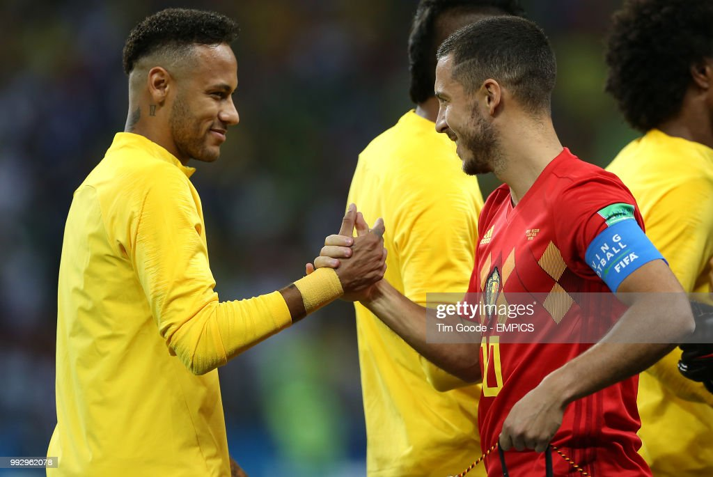 ¿Cuánto mide Eden Hazard? - Altura y peso - Real height and weight Brazils-neymar-and-belgiums-eden-hazard-shake-hands-prior-to-kickoff-picture-id992962078