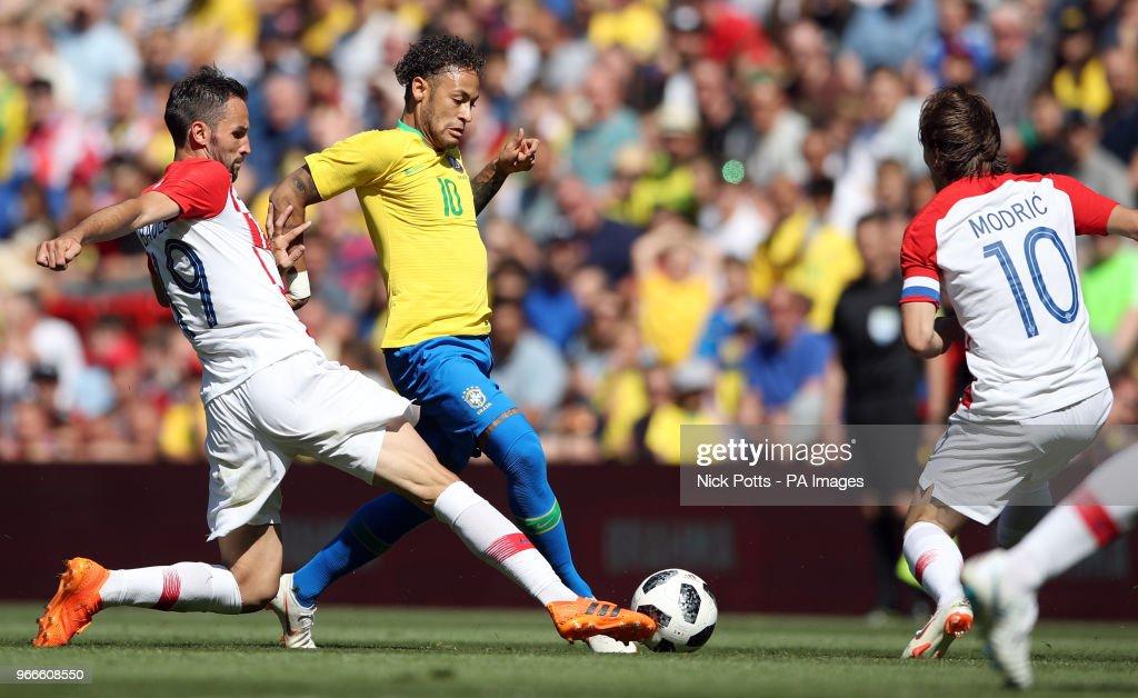Brazil v Croatia - International Friendly - Anfield : News Photo