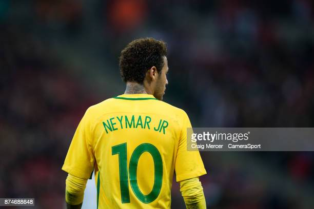 Brazils Neymar Jr during the Bobby Moore Fund International between England and Brazil at Wembley Stadium on November 14 2017 in London England