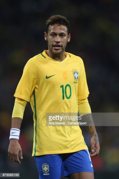 Brazil's Neymar JR during the Bobby Moore Fund International between England and Brazil at Wembley Stadium on November 14 2017 in London England