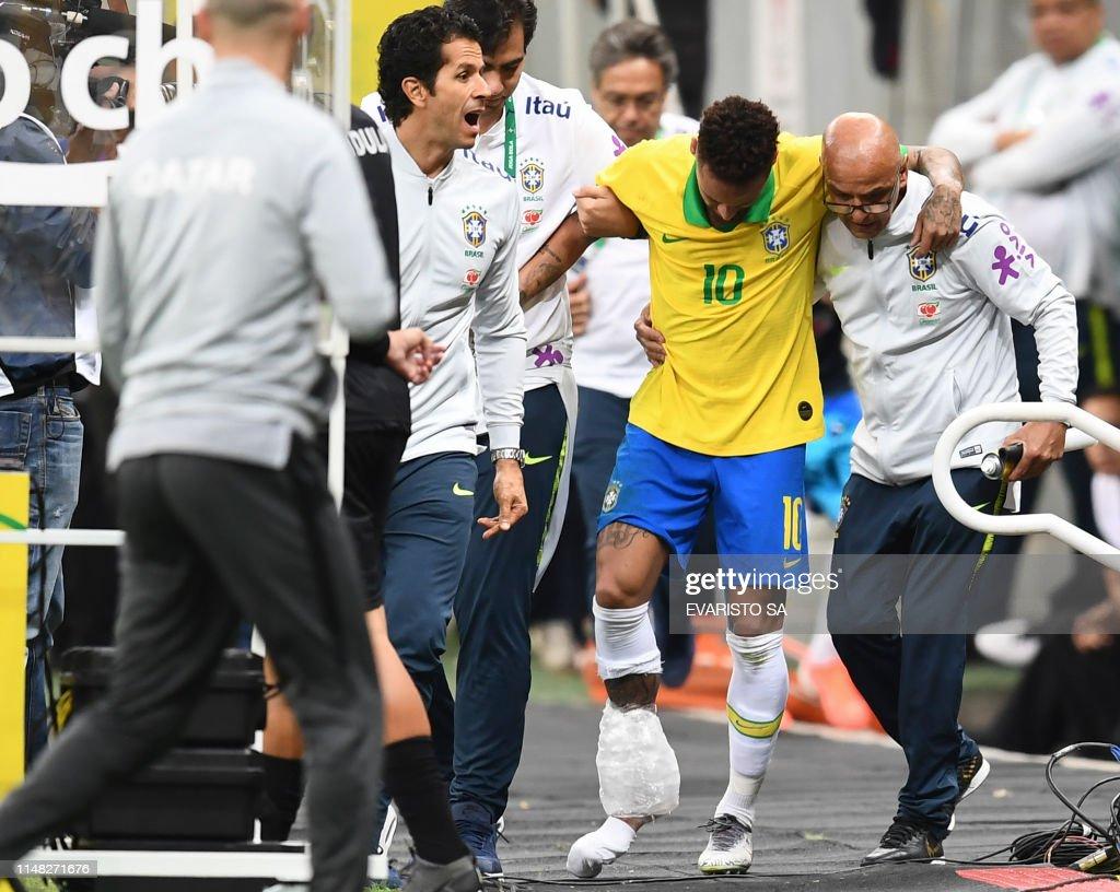 TOPSHOT-FBL-COPA AMERICA-2019-BRA-QAT-FRIENDLY : News Photo
