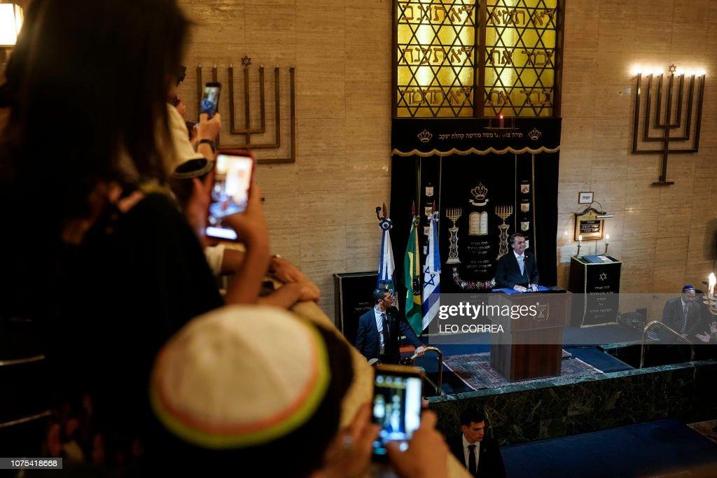 BRAZIL-ISRAEL-BOLSONARO-NETANYAHU : News Photo