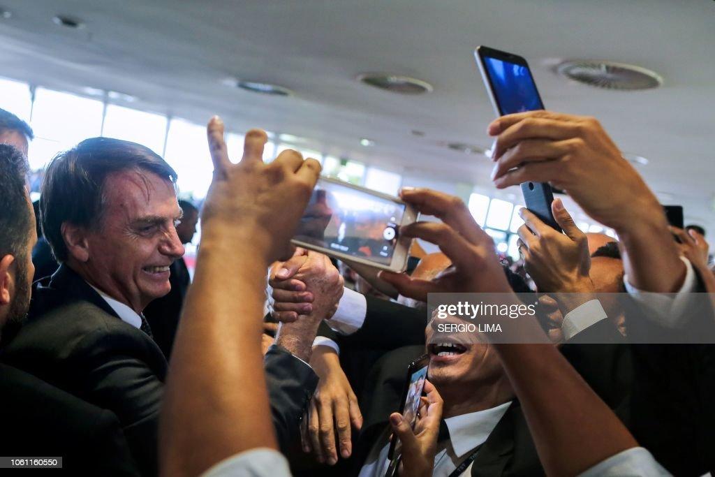 BRAZIL-POLITICS-BOLSONARO : News Photo