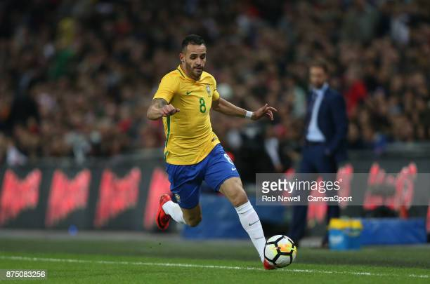 Brazil's Renato Augusto during the Bobby Moore Fund International between England and Brazil at Wembley Stadium on November 14 2017 in London England