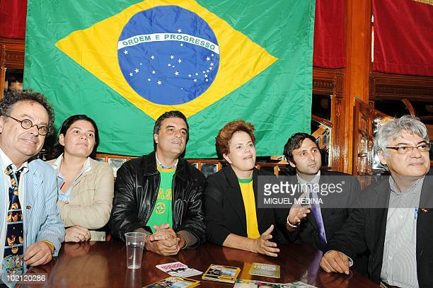 Brazil's ruling leftwing Workers Party candidate for the next October presidential elections Dilma Rousseff and Workers Party deputy Jose Eduardo...
