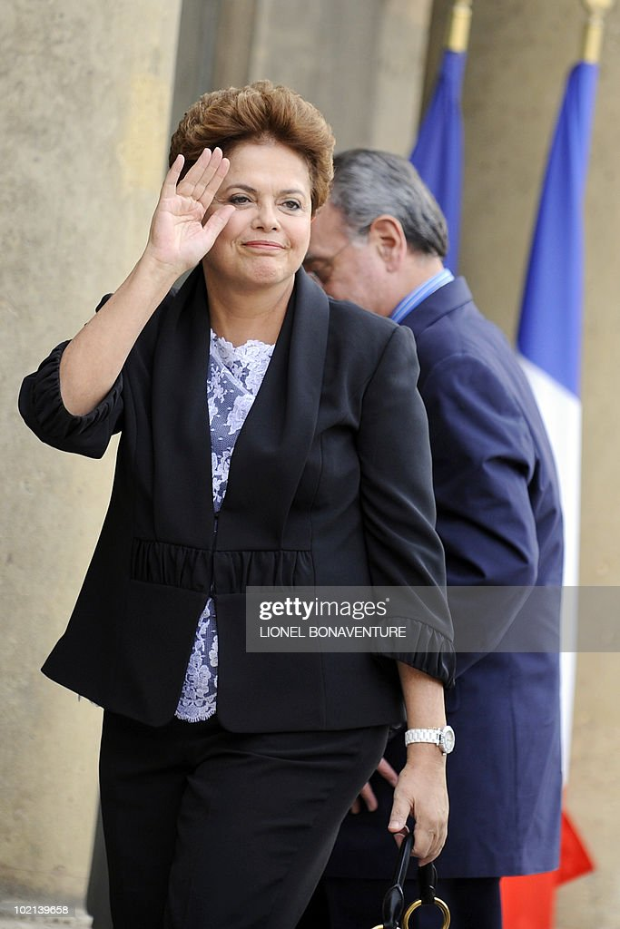 Brazil's ruling left-wing Workers Party candidate for the next October presidential elections Dilma Rousseff arrives at the Elysee palace in Paris, on June 16, 2010 before a meeting with French president Nicolas Sarkozy.
