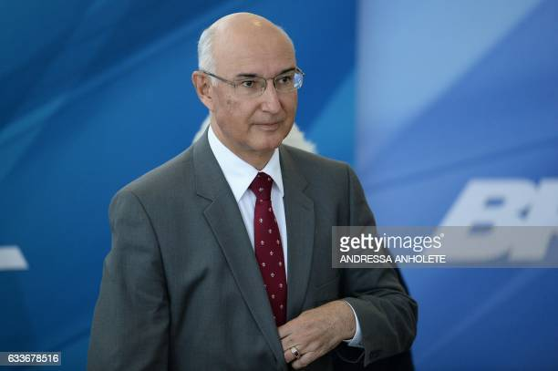 Brazil's Sumpreme Labour Court President Ives Gandra Martin is pictured during the inauguration ceremony of the ministers of Justice and Public...