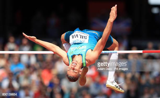 Brazil's Talles Frederico Silva competes in the Men's High Jump Qualifying during day eight of the 2017 IAAF World Championships at the London Stadium