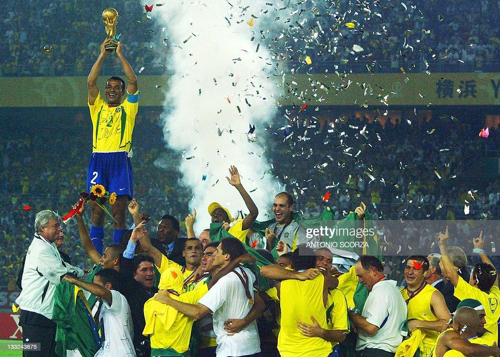 Brazil's team captain and defender Cafu : Foto jornalística