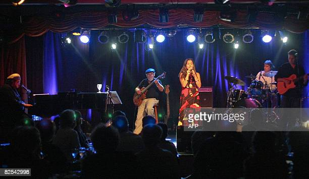 Brazil's 'Turma da Bossa' band performs early in the morning on August 25 2008 at the 'Bar do Tom' in Rio de Janeiro during celebartions for the...