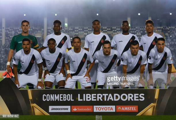 Brazil's Vasco da Gama poses for picture before the 2018 Copa Libertadores football match against Chile's Universidad de Chile at Sao Januario...