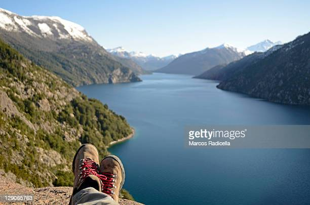 brazo tristeza, bariloche, patagonia - radicella stock photos and pictures
