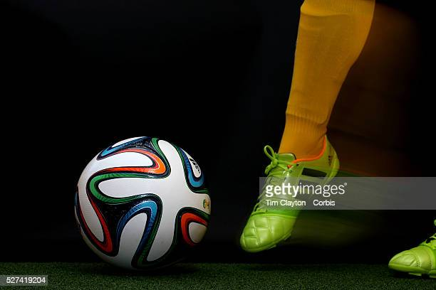 Brazuca football The official Adidas match ball for the FIFA World Cup Brazil 2014 Photo Tim Clayton