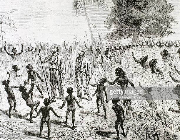 Brazza PierrePaul Savorgnan de French explorer and navigator of Italian origin Journey through the Congo Engraving