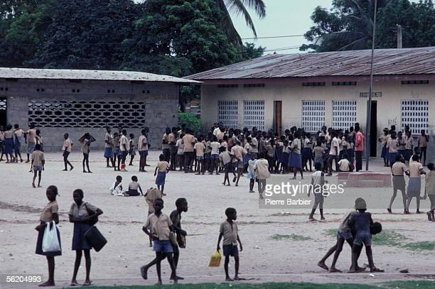 Brazzaville In the playground of a school 1983 PB118315