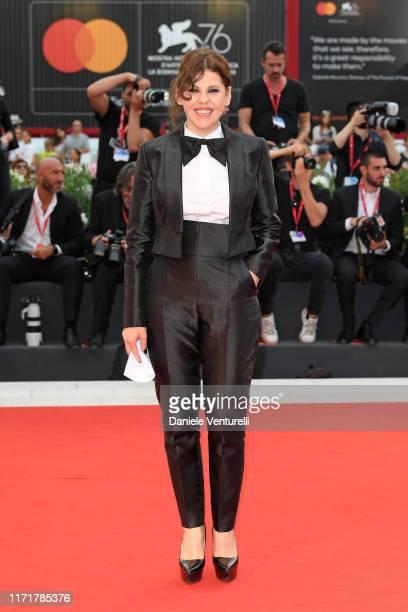 Bárbara Paz walks the red carpet ahead of the Martin Eden screening during the 76th Venice Film Festival at Sala Grande on September 02 2019 in...