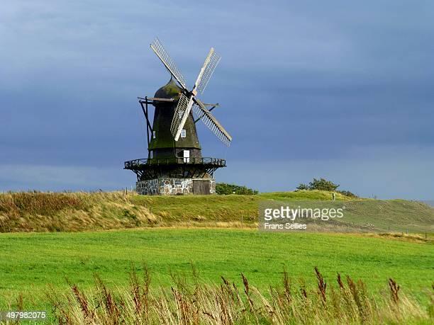 Bräcke windmill in Nyhamnsläge. Nyhamsnläge is in Skåne , in the south of Sweden.