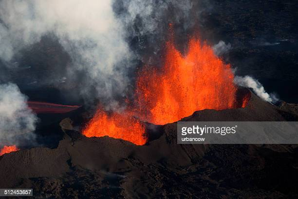 bárdarbunga volcanic eruption, iceland. - lava stock pictures, royalty-free photos & images
