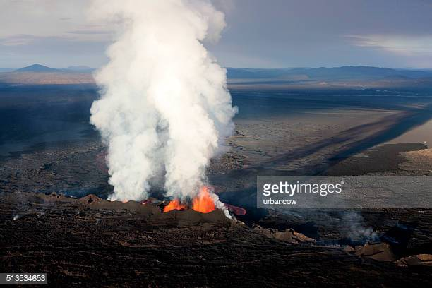 bárdarbunga volcanic eruption, iceland. - volcanic terrain stock pictures, royalty-free photos & images