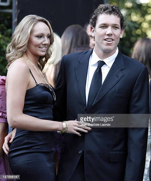 Bre Ladd and Los Angeles Laker Luke Walton attend the wedding of Khloe Kardashian and LA Lakers forward Lamar Odom at the Bel Air estate of music...