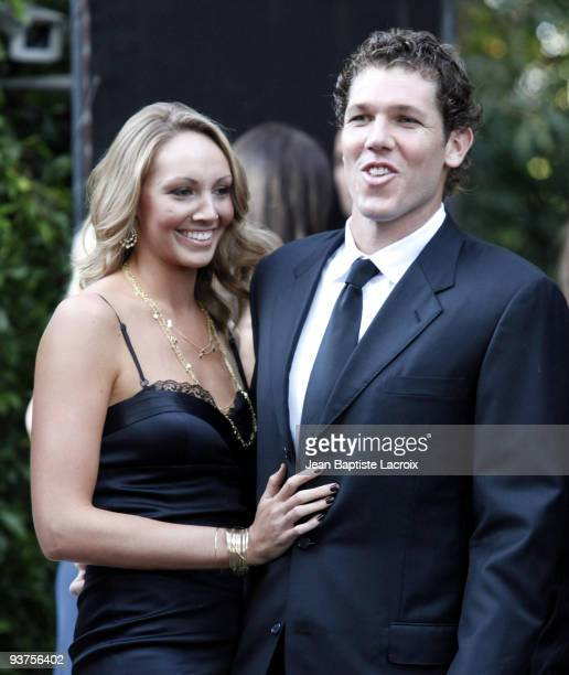 Bre Ladd and Luke Walton attend the wedding of Khloe Kardashian and LA Lakers forward Lamar Odom at the Bel Air estate of music mogul Irving Azoff on...
