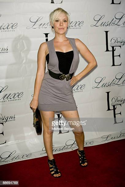 Brea Grant attends the LaurenElaine designs runway event at Le Doux on June 25 2009 in Los Angeles California